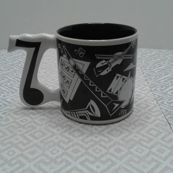 Russ Barrie Music notes coffee 8 oz mug